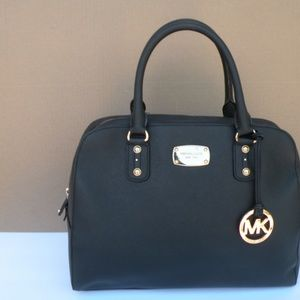 MICHAEL KORS SAFFIANO LEATHER SATCHEL